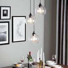 3 Light Pendants 3 Light Shinning Large Glass Pendant Lights With Hardrware