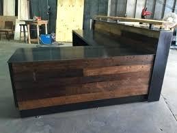 Diy Reclaimed Wood Desk Reclaimed Wood Reception Desk Buy A Made 8 Reclaimed