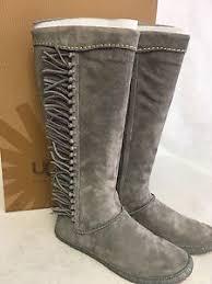 ugg s mammoth boots ugg australia mammoth gray grey fringe moccasin style festival