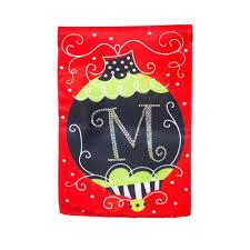 monogram christmas evergreen silk monogram christmas ornament m garden
