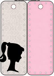halloween printable bookmarks barbie silhouette free party printables images and papers is
