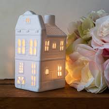 porcelain canal house tea lights six designs by bonnie and bell