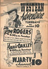 rochester ny tv guide ad for western adventure tuesdays roy rogers and annie oakley tv