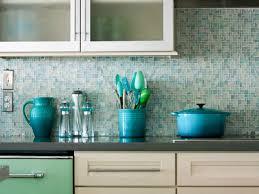 Blue Sea Glass Backsplash Tile - Sea glass backsplash