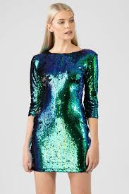 sequin dress two tone green sequin dress missi london