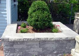 Garden Wall Planter by Concrete Block And Brick Products Unilock Estate Wall Shown In