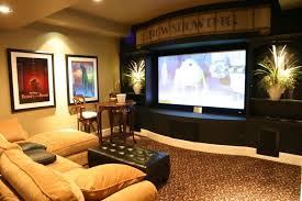 interior glamorous basement living room decoration ideas using