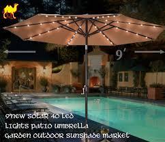 Solar Lights For Umbrella by Amazon Com Strong Camel 9 U0027new Solar 40 Led Lights Patio Umbrella