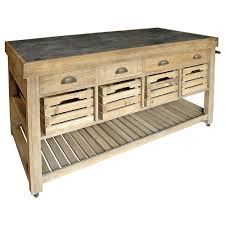 Reclaimed Kitchen Islands by Marat French Country Reclaimed Pine Blue Stone 4 Crate Kitchen