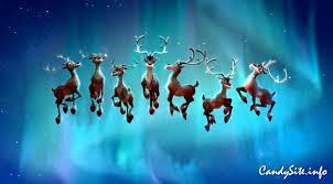 santa claus reindeer candysite