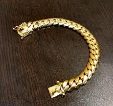 gold plated sterling silver bracelet images 14k gold plated sterling silver miami cuban link bracelet made jpg