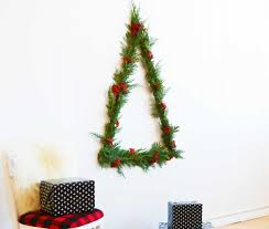 diy christmas tree ideas space saving wall trees