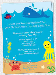 baby shower invitations funtastic under the sea baby shower