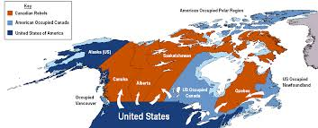 Map Of Canada And Us 2nd Us Civil War Map Imaginarymaps Civil War Map If There Were A