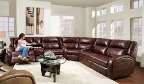 leather sectional sofa with recliner reclining sectionals in living room rustic with next to large