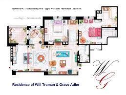 New York Apartments Floor Plans From Friends To Frasier 13 Famous Tv Shows Rendered In Plan