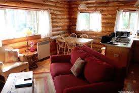 Modern Cabin Interior by Interior Hunting Rustic Cabin Living Room With Antler Light Cool