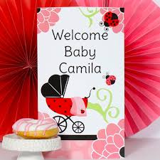 Ladybug Baby Shower Centerpieces by Ladybug Baby Shower Personalized Invitations