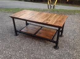 wood and pipe table 15 collection of pipe coffee table