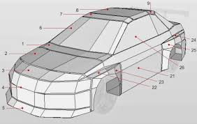nissan skyline drawing 2 fast 2 furious wongday papercraft mitsubishi evolution 2 fast 2 furious
