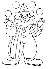 Clown Coloring Pages Printable clowns coloring pages getcoloringpages