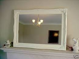 cream shabby chic antique style overmantle wall mirror 20