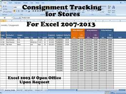 Spreadsheet For Sales Tracking by Inventory And Sales Consignment Tracking For Stores Track