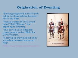 history of equestrian eventing
