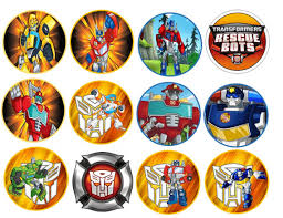 transformers rescue bots 1 edible cake or cupcake topper edible transformer rescue bots images cupcake cookie toppers