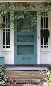 Front Door Colors For White House Best 25 Teal Front Doors Ideas On Pinterest Teal Door Painting