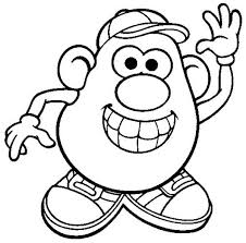 Mr Potato Head Is So Happy Coloring Pages Bulk Color Happy Coloring Pages