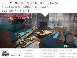 Second Life Marketplace NEWPG Prim Mesh Indoor Outdoor - Indoor outdoor sofas 2