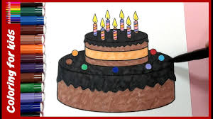 birthday cake coloring book page coloring pages shosh channel