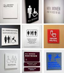 Gender Neutral Bathrooms In Schools - in all gender restrooms the signs reflect the times signage