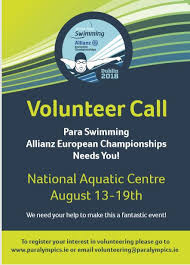 Seeking Dublin Dublin 2018 Volunteer Deadline Paralympics Ireland