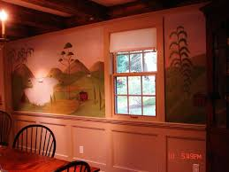 Designing A Wall Mural 142 Best Colonial And Primitive Wall Murals And Paintings Images