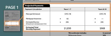 Estimate Mortgage Rate by Loan Estimate Guide Monthly Mortgage Payment