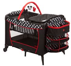 pack and play with bassinet and changing table disney mickey mouse all in one play yard