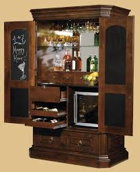 locking wine display cabinet miller arden hide a bar wine cabinet 695 090