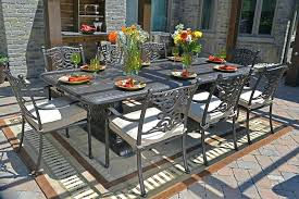 oval aluminum patio table aluminum outdoor dining table by luxury cast aluminum patio
