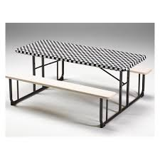 stay put table covers stay put tablecovers 8 banquet black check 12