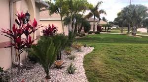 Plants For Front Yard Landscaping - nw cape coral front yard landscape w white rock u0026 tropical plants