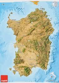 Sardinia Map Satellite 3d Map Of Sardegna Political Shades Outside