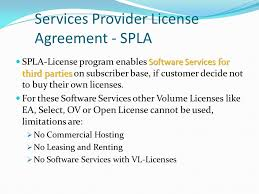 services provider license agreement spla software services for