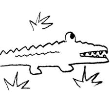 alligator black and white crocodile clipart free download clip art