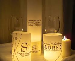 handmade vellum luminary centerpiece wedding signs quotes and