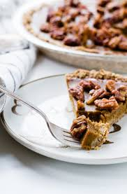 butternut squash pie with candied pecans gluten free
