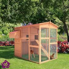 gallinero conejera jaula casita aves de corral madera 166x190x165