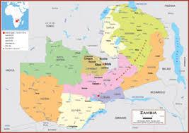 map of zambia zambia maps academia maps