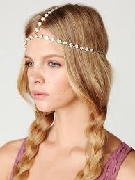 chain headpiece lyst free chain headpiece in white